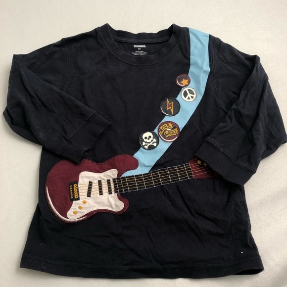 Gymboree Shirts Tops Navy Rock N Roll Long Sleeve Shirt Poshmark